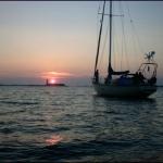Coucher de soleil au Glénan