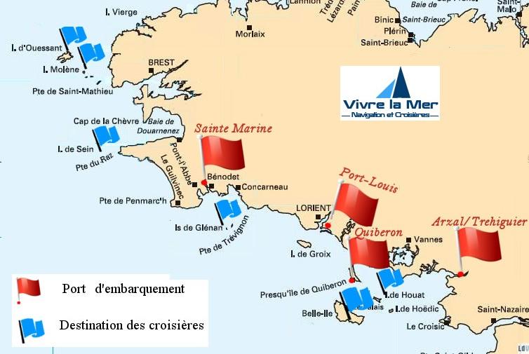Carte Bretagne Iles.Planning Croisieres 2019 Naviguer En Bretagne